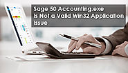 Sage 50 Accounting.exe Is Not a Valid Win32 Application +1-844-313-4854