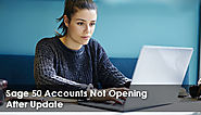 Sage 50 Accounts Not Opening After Update - Fix It - +1844-313-4854