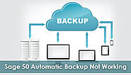 Sage 50 Automatic Backup Not Working +1-844-313-4854