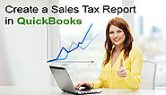 How to Create a Sales Tax Report in QuickBooks +1-844-313-4854