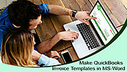 Make QuickBooks Invoice Templates in MS-Word +1-844-313-4854