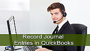 How to Record Journal Entries in QuickBooks +1-844-313-4854