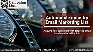 Automobile Industry Email Marketing List