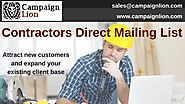 Contractors Direct Mailing List | Builders and General Contractors Email Database