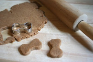 Carob Mint Dog Christmas Cookies