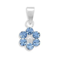 Amazon.com: Crystal and Simulated Pearl Flower Pendant Necklace - Chain Included: Jewelry