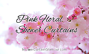 Pink Floral Bathroom Shower Curtain Ideas