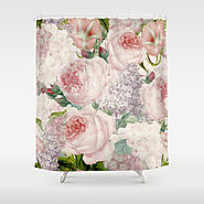 Vintage Roses and Lilacs Pattern - Smelling Dreams