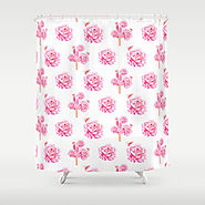 Rose Pop Shower Curtain