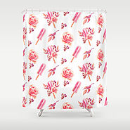 Pink Floral Chill Shower Curtain