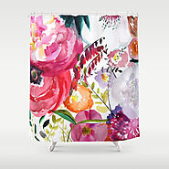 Bloom Floral Shower Curtain