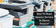 How To Start Spooler Service In Epson Printer?