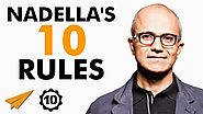 Satya Nadella's Top 10 Rules For Success (@satyanadella)