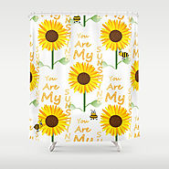 You Are My Sunshine Quote Shower Curtain