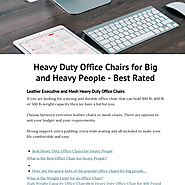 Heavy Duty Office Chairs for Big and Heavy People - Best Rated