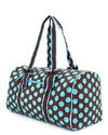 Large Quilted Polka Dots Print Duffle Bag