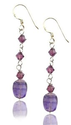 Amazon.com: MGD, Swarovski Element and Purple Amethyst Drop and Dangle Earrings, 925 Sterling Silver Earrings, Fish H...
