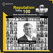 "Ashwani Singla Listed Among ""100 Most Important Professionals"" by Reputation Today"