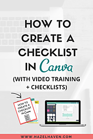 How to Create a Checklist in Canva (with Video Training + Checklists)