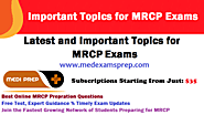 MedExamsPrep - NEET PG | MRCP | MRCS Exam Resources & Updates