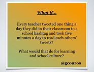 6 Ways to Use Twitter To Enhance In-School Professional Learning