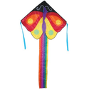 "Large Easy Flyer Kite - Butterfly (46"" X 90"") with 300 Ft 30lb Test Kite String and Winder"