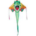 "Large Easy Flyer Kite - T-Rex Dinosaur (46"" X 90"") with 300 Ft 30lb Test Kite String and Winder"