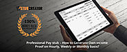 Professional Pay stub - How to Generate Own Income Proof on Hourly, Weekly or Monthly basis? - Stub Creator