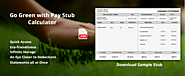 Go Green with Pay Stub Calculator - Stub Creator