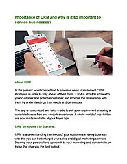 Importance of CRM and why is it so important to service businesses? by notchitupmarketingapp - issuu