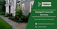 Professional Stamped Concrete Services by Denali Construction