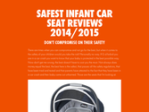 Safest Infant Car Seat Reviews 2014/2015