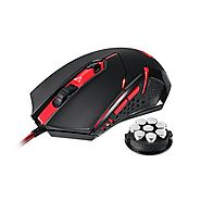 Redragon M601 Gaming Mouse wired with red led, 3200 DPI 6 Buttons Ergonomic CENTROPHORUS Gaming Mouse for PC
