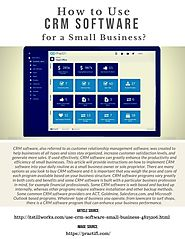 How to Use Crm Software for A Small Business?