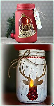 Christmas Mason Jar Lighting