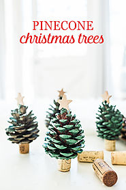 These Pinecone Christmas Trees