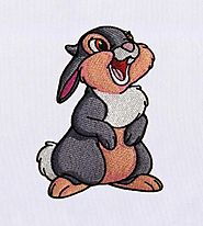 Friendly and Lively Thumper Embroidery Design - DigitEMB