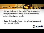 Marine Protective Coatings & Epoxy Coatings Services IN India