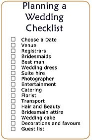 Printable wedding checklist