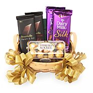 Website at https://www.yuvaflowers.com/feast-of-chocolates-hamper