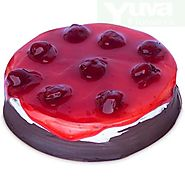 Order/Send STRAWBERRY SEDUCTION CAKE Online - YuvaFlowers.com