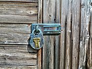 Wood shed metal lock