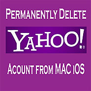 How to delete yahoo mail account from MAC iOS permanently?