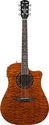 Fender T-Bucket 300CE Cutaway Acoustic-Electric Guitar, Quilted Maple Top, Mahogany Back and Sides, Fishman Preamp - ...