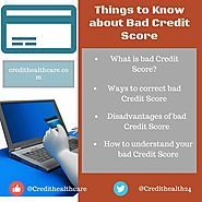 4 Things to know about Bad Credit Score | Credit Healthcare
