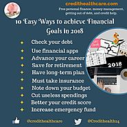10 Easy Ways to achieve Financial Goals in 2018 | Credit Healthcare