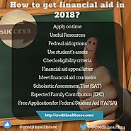 Ways College Students get financial aid in 2018 | Credit Healthcare