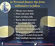 Personal finance tips from millionaires to follow in 2018 | Credit Healthcare