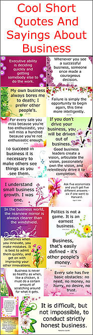 Cool Short Quotes And Sayings About Business – Quotes And Sayings