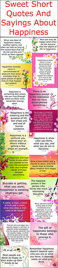 Sweet Short Quotes And Sayings About Happiness – Quotes And Sayings